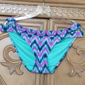 Xhilaration bright geometric bikini bottom nwot XL